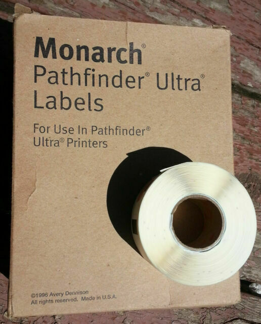 50 rolls Avery Dennison MONARCH PATHFINDER ULTRA Labels for Printer 402-235