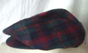 6178336426f Pendleton Men s plaid 100% wool newsboy caddie golf driving cap ...