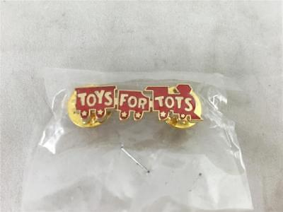 TOYS FOR TOTS CLASSIC TRAIN DONATION COLLECTABLE LAPEL PIN   NEW   RED GOLD