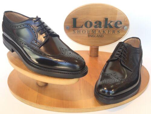 Loake Sovereign /'Black/' Brogue Shoes UK Size 9