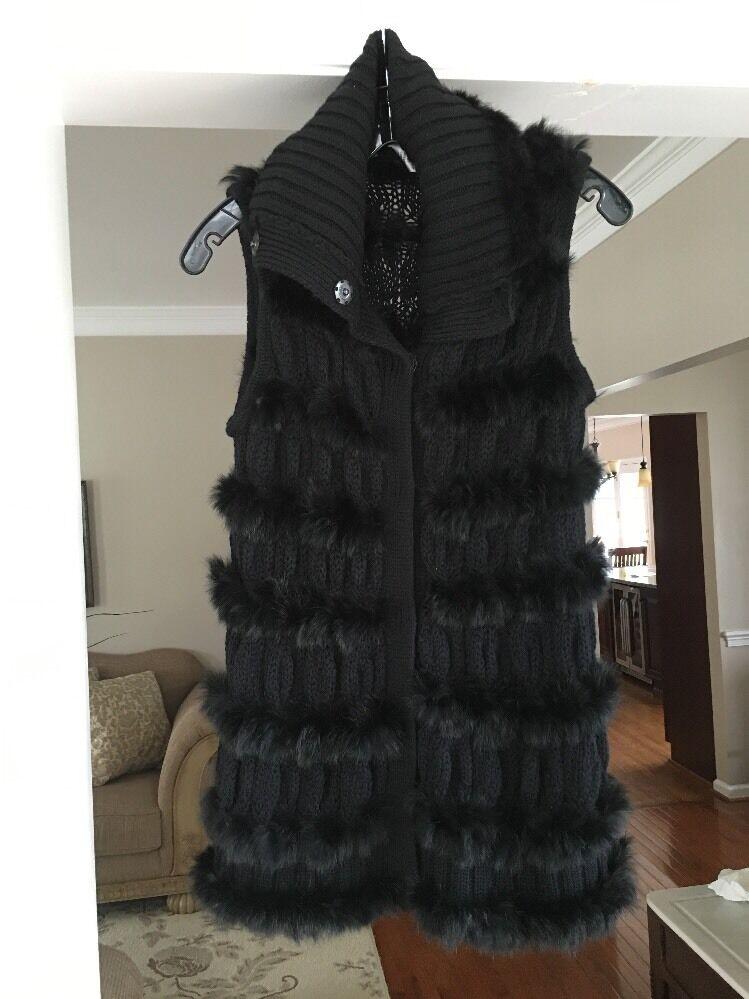 Diane von Furstenberg Alcina FUR and Wool Vest Size S P