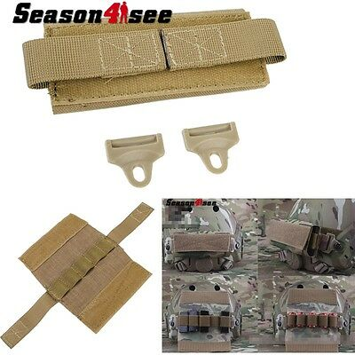 Military Tactical Helmet Accessory Pouch Holder With Hook Fastener Coyote Brown
