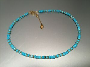 Anna-Beck-18-K-GOLD-PLATED-amp-Sterling-Silver-Turquoise-Necklace-NWT