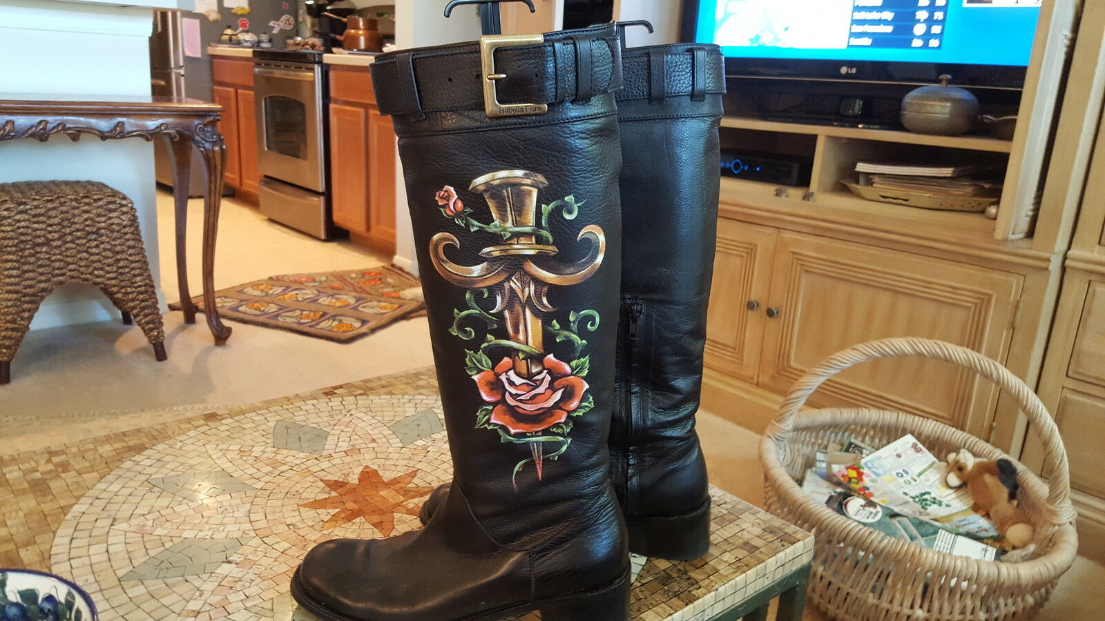 Isabella Fiore Ed Hardy design boots