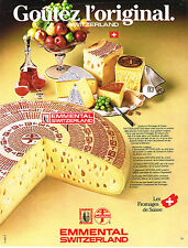 PUBLICITE ADVERTISING 034   1984   EMMENTHAL  SWITZERLAND    fromages Suisses