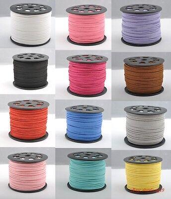 Soft Velvet Korea Frosting Cord Thread For DIY Bracelet Necklace 5Yards 100Yards
