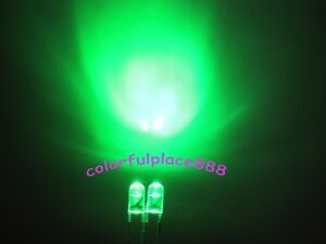 1000pcs GREEN F3 3MM ROUND Water Clear LED Light