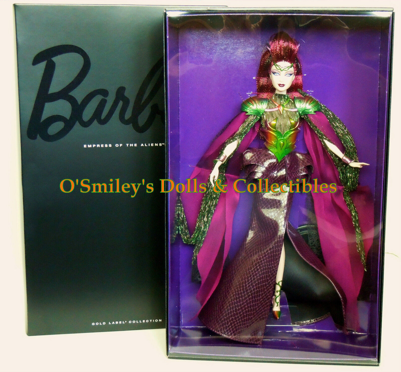 La Emperatriz De Los Aliens 2012 oro Label 4800 Galaxy Villian Barbie (mm) _ w3514_nrfb