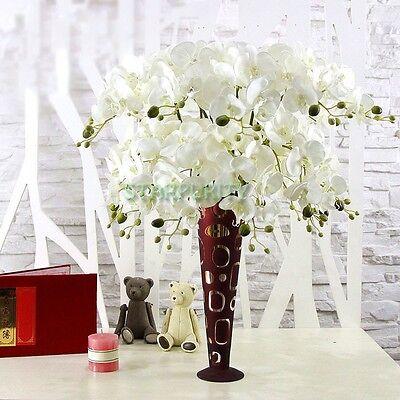 77cm Artificial Hanging Moth Orchid Flowers 7 Heads Home Vase Wedding Decor DIY