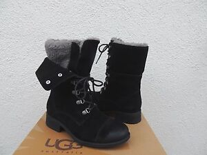 f4c40646757 Details about UGG GRADIN BLACK SUEDE/ SHEEP WOOL LINED CONVERTIBLE BOOTS,  US 10/ EUR 41 ~NEW