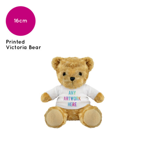 25 Personalised Victoria Teddy Bear Promotional Logo Text Photo Printing Bulk