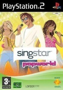 Ps2-Sony-PlayStation-2-juego-SingStar-popworld-con-embalaje-original