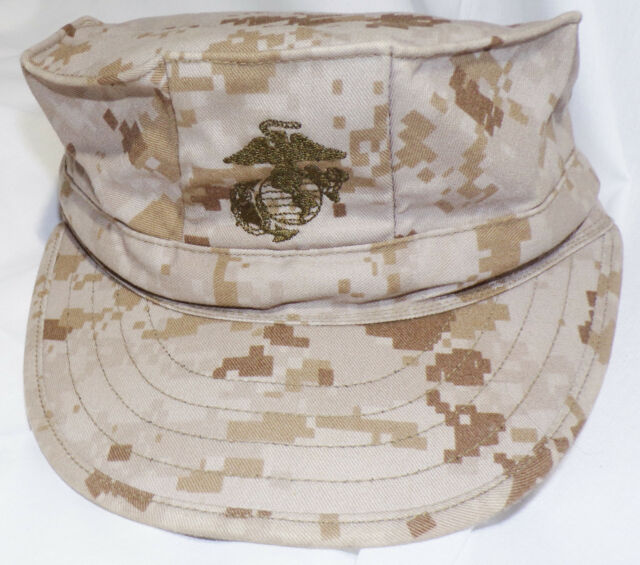 f9df8acf194 USMC Garrison Cover Hat Desert Camo Marpat Sekri Industries 8 Point Size  X-Small