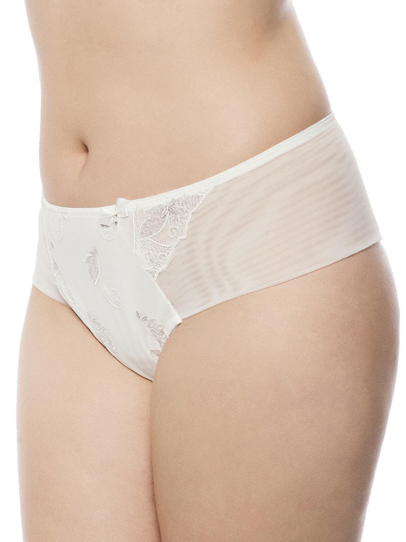 Carla Full Figure Hipster Thong Panties Ecru 2137 by Ulla Dessous