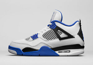 24fb13b897e 2017 Air Jordan IV Retro 4 size 13. Motor Sport Blue White 308497 ...