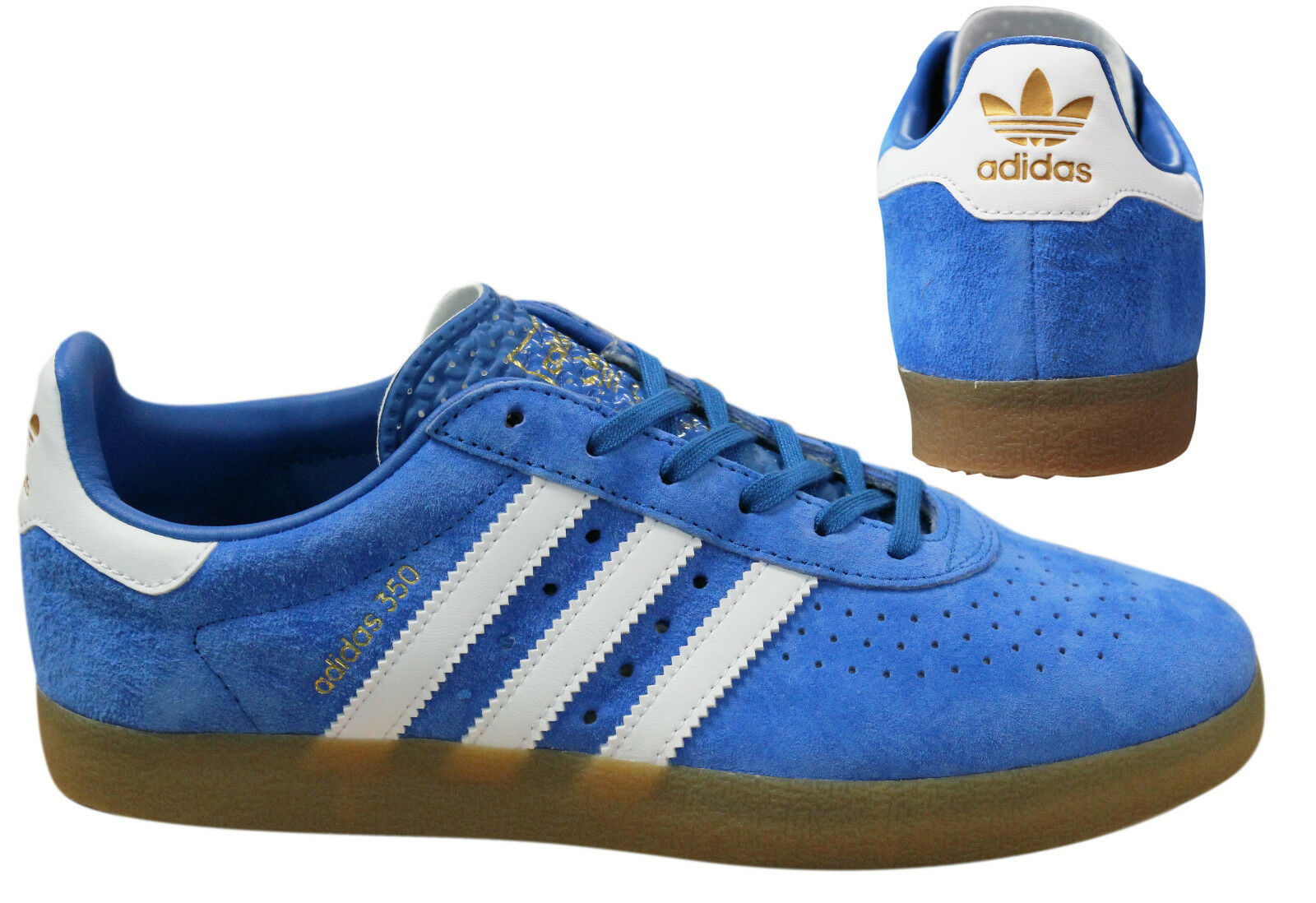 Adidas Originals 350 Baskets Homme à Lacets Chaussures Facile Bleu BY1862 M11