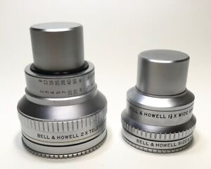 BELL-amp-HOWELL-AUX-TELE-amp-WIDE-ANGLE-LENS-SET-FILTER-RINGS-CAPS-FREE-SHIP