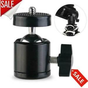 "360° Swivel mini ball head 1//4/"" screw mount bracket holder camera tripod/_ti"