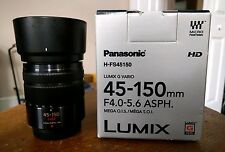 Panasonic Lumix G Vario 45-150mm f/4.0-5.6 ASPH Mega O.I.S Lens - Lightly Used