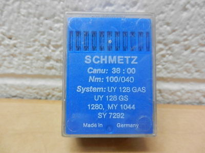 Schmetz Sewing Needles 100 Pk 38:00 100/040 UY 128 GAS UY ...