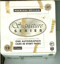 1996 leaf signature box sealed autographs baseball cards premiere edition