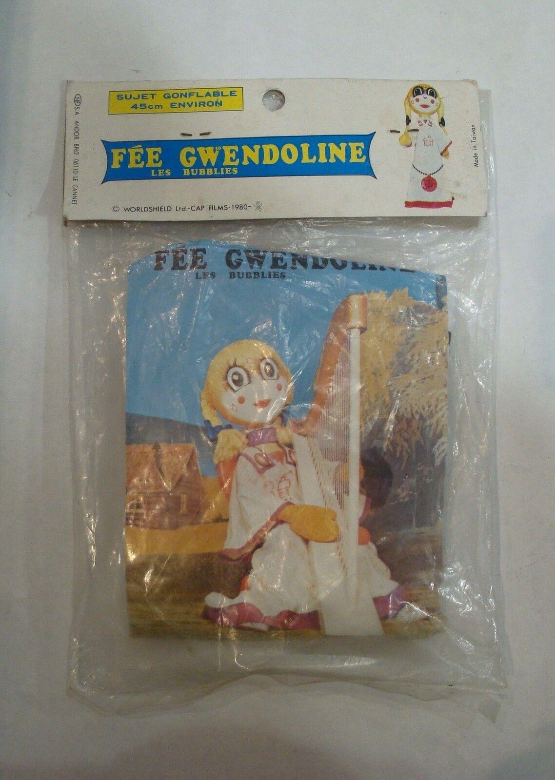 Puppe Aufblasbarer Fairy Gwendoline das Können 1980 Neu Epoche Casimir Candy