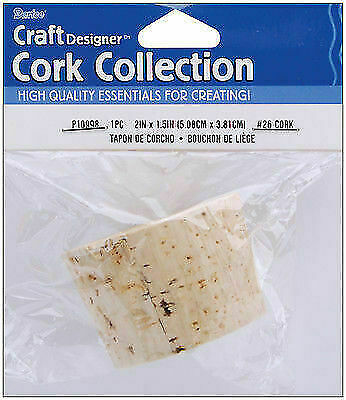 Darice Cork Collection Stopper 2 X 1.5 Inches