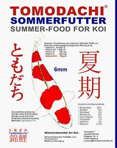 Koi food, nourriture d'été de qualité supérieure avec Spiruline Astax, amélioration de la couleur 5kg 6mm