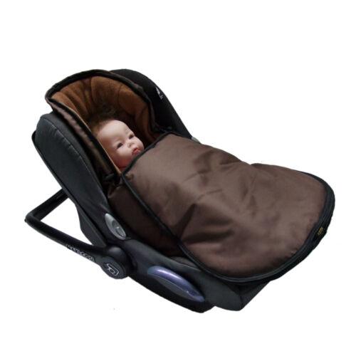 BAMBINIWELT Winterfußsack für Babyschale Maxi-Cosi Pebble mit FLEECE UNI