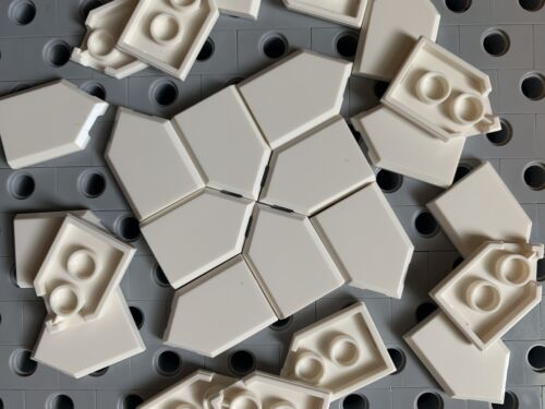 Lego 2x3 White Flat Tiles With Angle Smooth Finishing Floor New Lot Of 25
