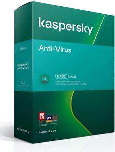 Kaspersky Anti-Virus Security 2021 / 1PC - 5PC, 1 oder 2 Jahre / Multi Device EU