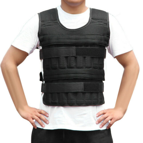 Fitness Weighted Vest 77LB Training Jacket Adjustable Gym Exercise Workout Tool