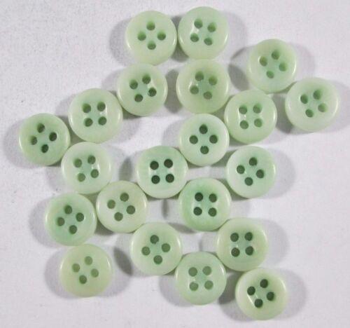 Botón botones 20 unidades steinnuss botón verde de 9 mm #763#