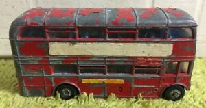 Vintage-DINKY-TOYS-MECCANO-Routemaster-London-Rouge-Double-Decker-Bus-n-289