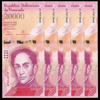 Venezuela 20000 20,000 2016-2017 P-New Unc Bolivares x 5 Pcs