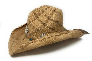 "Dorfman Pacific ""DPC"" Women's Pinch Front Raffia Straw Beach Hat-One Size"