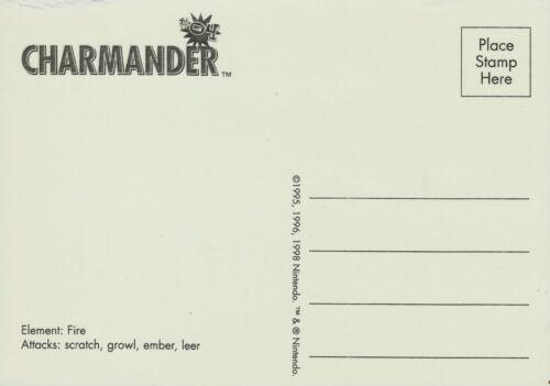 CHARMANDER VINTAGE COLLECTIBLE ITEM YEAR 1998 POKEMON POSTCARD