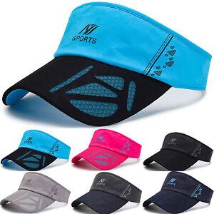 Visor-Sun-Plain-Hat-Sports-Sunscreen-Cap-Golf-Tennis-Beach-Adjustable-Men-Women