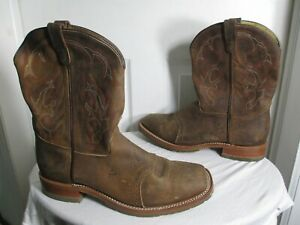93225632a58 Details about DOUBLE-H MEN'S DOMESTIC SQUARE TOE ICE ROPER WESTERN BOOTS  DH3560 BROWN SZ 14 D