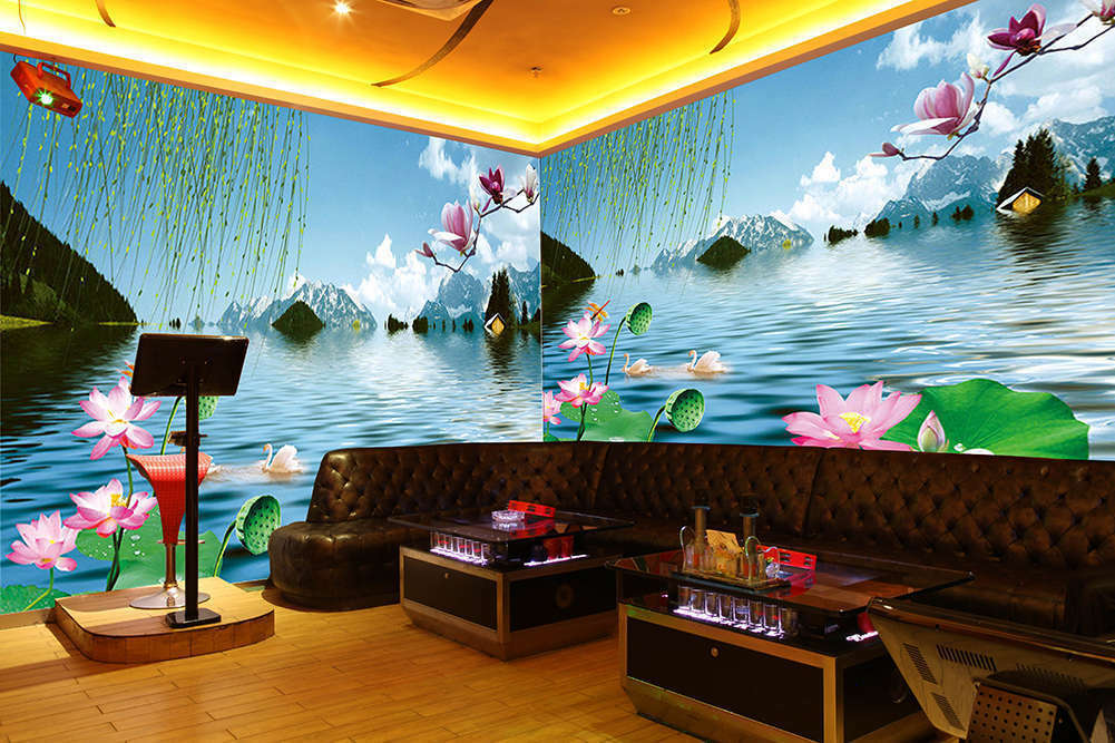 Summer Lotus Pond,3D Full Wall Mural Photo Wallpaper Printing Home Kids Decor