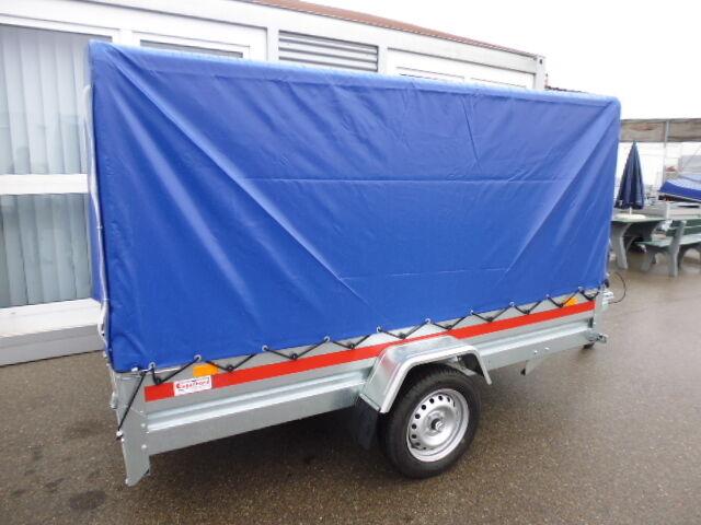 PKW-Anhänger mit Hochplane 750 kg ca. 2360x1250x1400 mm NEU Kastenanhänger