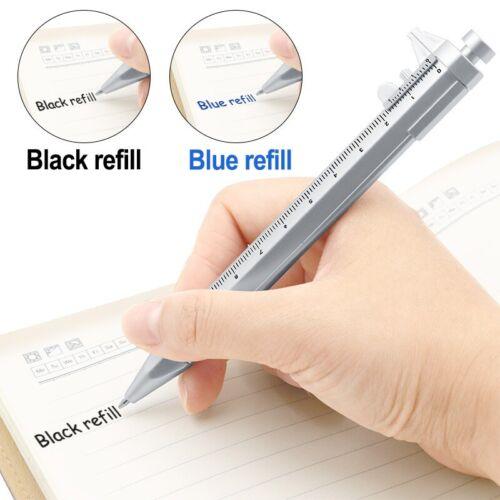 Multifunction New Plastic 1.0mm Gel Ink Pen Vernier Caliper Roller Ball Pen