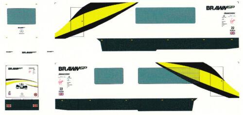 "Decal para remolcarse /""brawn gp f1//j button/"" 1//87 construiste"