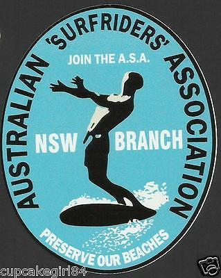 AUSTRALIAN SURFRIDERS NSW ASSOC Sticker Decal Surfboard Longboard Skateboard