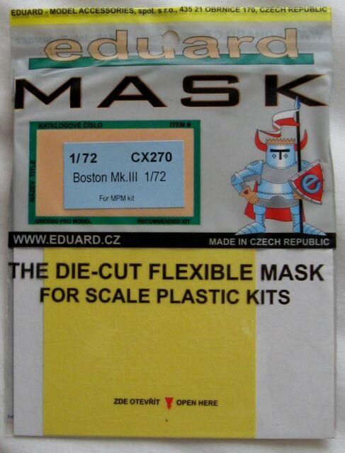 Eduard 1//72 CX270 Canopy Mask for the MPM Douglas Boston Mk III kit