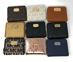 7b11d254be2c3 Image is loading NWT-Michael-Kors-Bifold-Zip-Around-Wallet-with-
