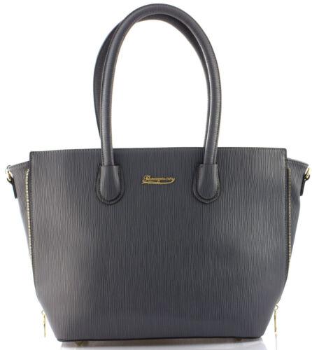 Damen Tasche Handtasche Schwarz Schultertasche im Leder Optik Gross Groß