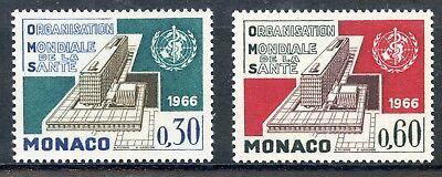 Monaco Timbre De Monaco N° 703/704 ** Organisation Mondiale De La Sante Geneve Stamp