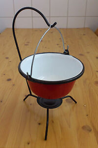 Table Top Hungarian Goulash Kettle Pot Enamel Bogracs Stand Great For Goulash Ebay