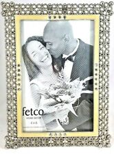Stain Silver Rhinestone Photo Picture Frame 4x6 Fetco Home Decor Floral Dillards For Sale Online Ebay